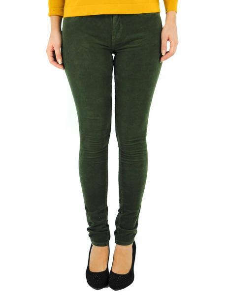 Pantalones Pepe Jeans Micro Pana Verde Para Mujer