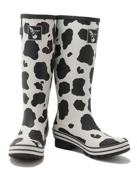 EVERCREATURES MD. COW WELLIES COLOR.BLANCO NEGR