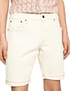 Bermudas Pepe Jeans 5 Bolsillos Stanley Beige Para Hombr