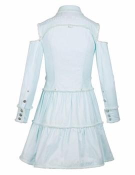 Vestido Highly Preppy Flequillo Mint Para Mujer