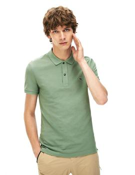 Polo Lacoste Slim Fit Verde Oliva Para Hombre