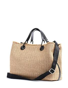 Emporio Armani WOMEN'S SHOPPING BAG NATURALE/NERO/