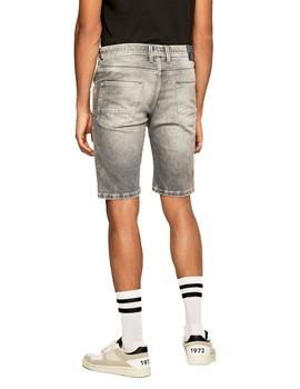 Shorts Pepe Jeans 5 Bolsillos Jagger Used Grises Para Hombre