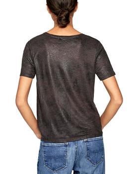 Camiseta Alba Conde Negra Para Mujer