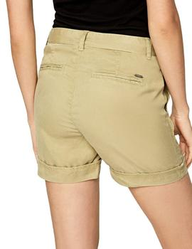 Shorts Pepe Jeans Estilo Chinos Nomad Verdes Para Mujer