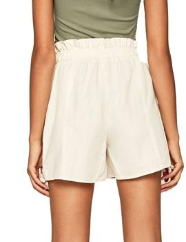 Shorts Pepe Jeans Casual Hellen Beige Para Mujer