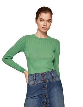 Jersey Pepe Jeans Canalé Linda Verde Para Mujer