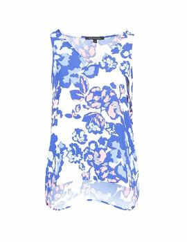 Top Armani Exchange Blanco Estampado Floral Para Mujer