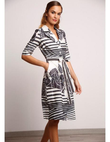 9cb702219 Vestido Camisero Estampado de Alba Conde para mujer.