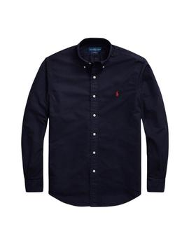 Camisa Ralph Lauren Oxford Custom Fit Marino Para Hombre