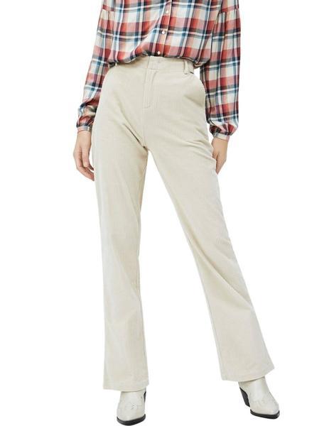 Pantalones Pepe Jeans Isa De Pana Blancos Para Mujer
