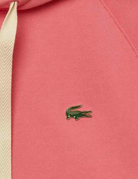Sudadera Lacoste Unisex Rosa Loose Fit