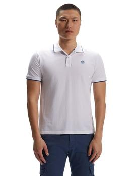 Polo North Sails Legacy Blanco Para Hombre