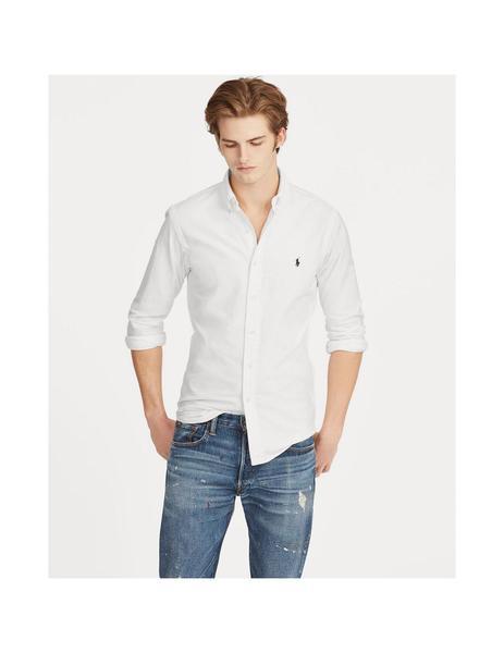 camisa blanca ralph lauren hombre slim fit
