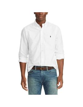 7fdc08a9 ... Camisa Polo Ralph Lauren Oxford Slim Fit Blanca Para Hombre ...