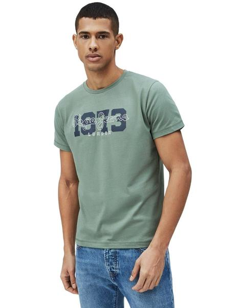Camiseta Pepe Jeans Verde 1973 Andres Para Hombre