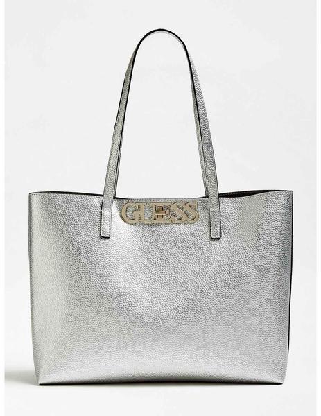Shopper Para Bolso Plata Uptown Mujer Guess Chic cS34RLAq5j