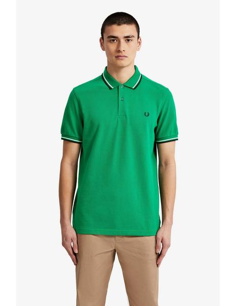 Polo The Fred Perry Shirt Verde Para Hombre