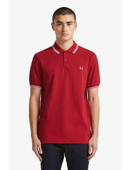 Polo The Fred Perry Shirt Granate Para Hombre