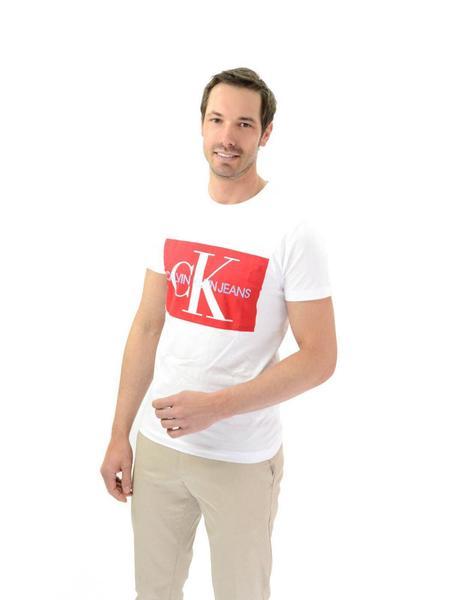 gran venta ventas especiales comprar baratas Camiseta Calvin Klein Logo Blanca Hombre
