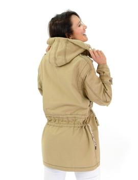 Parka Highly Preppy Lisa con Capucha Camel Mujer