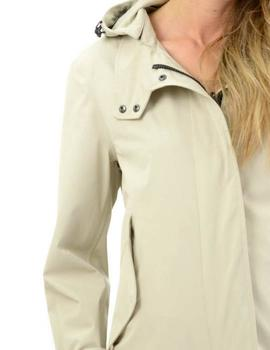 Trench Blauer Impermeable Capucha Beige Mujer