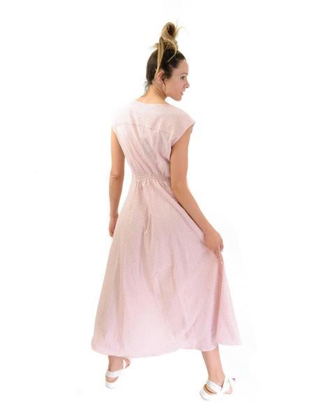 cf2a6a092895 Vestido Emme Marella Largo Blanco y Salmón Mujer