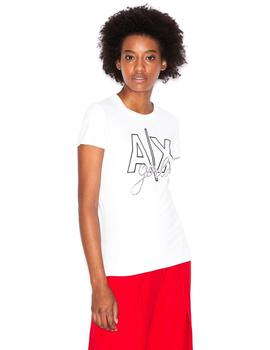 Camiseta Armani Exchange Optic White Mujer
