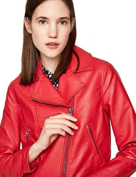Cazadora Pepe Jeans Roja Para Mujer